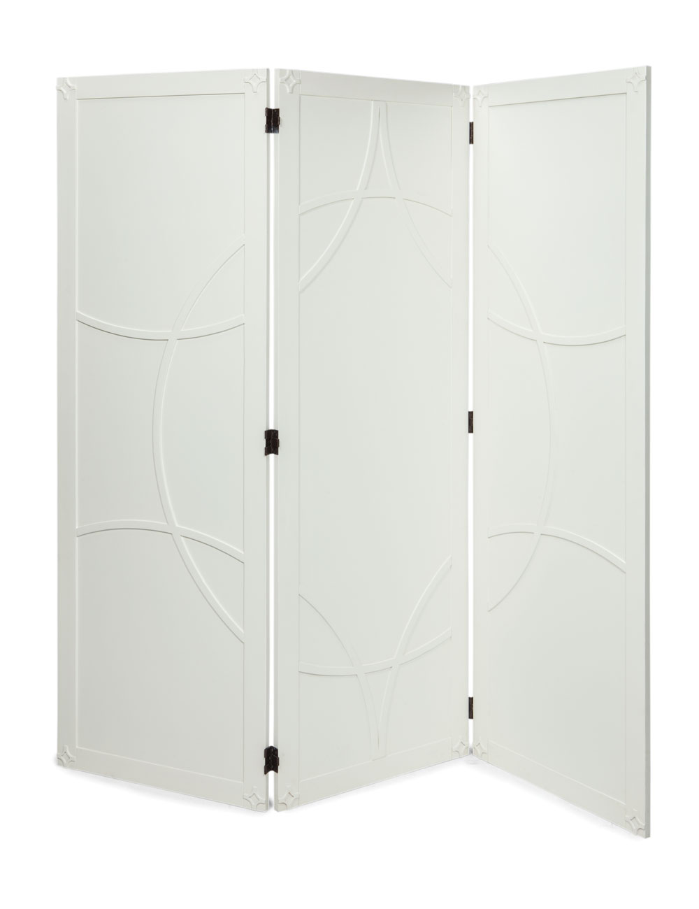 Brussels Room Divider Screen White