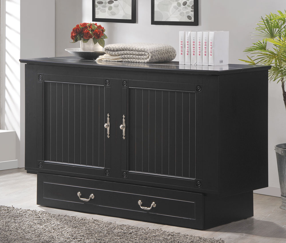 Creden-ZzZ Cottage Black Cabinet Bed Closed